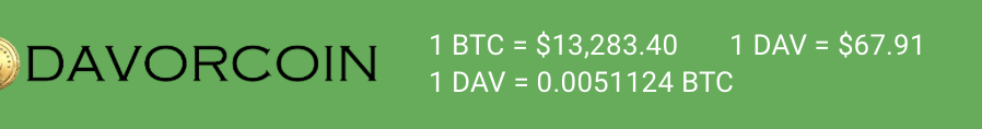 DavorCoin Free Gift for signup
